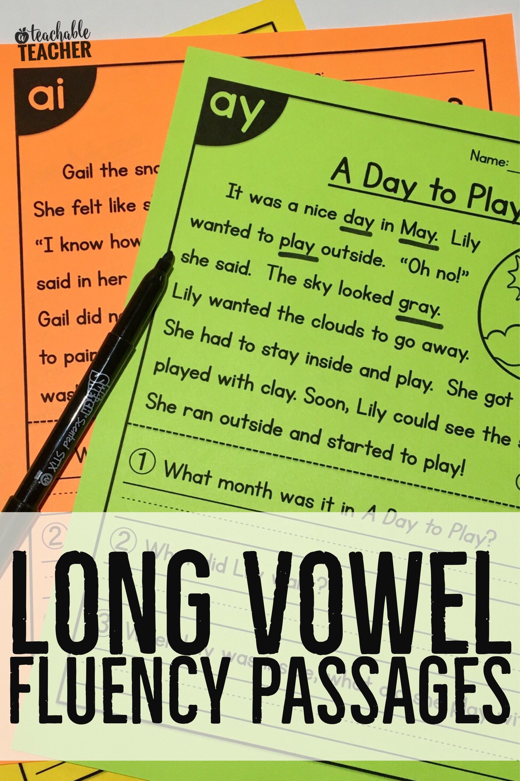 Long Vowels All In One Reading Passages