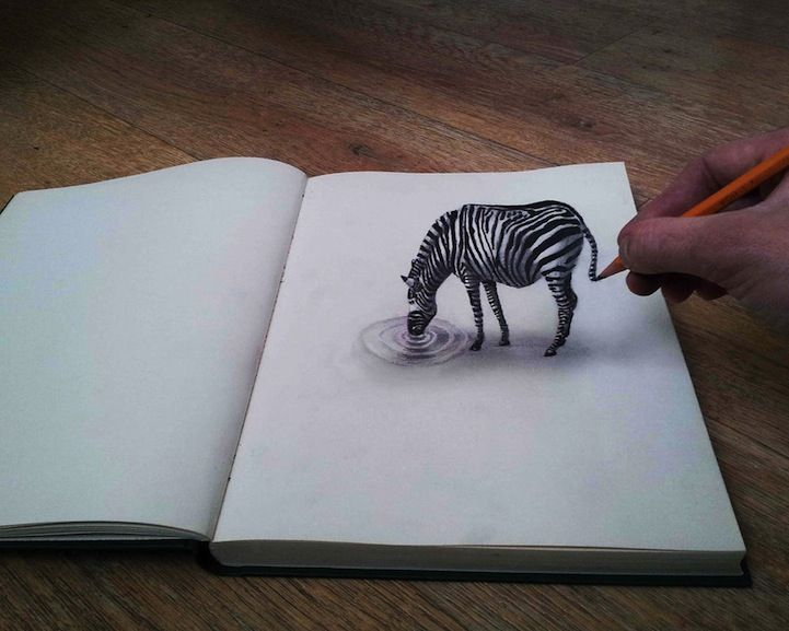 Ramon Bruins New D Illustrations Spring To Life Optical - Artist creates amazing 3d sketches that leap from the paper theyre drawn on