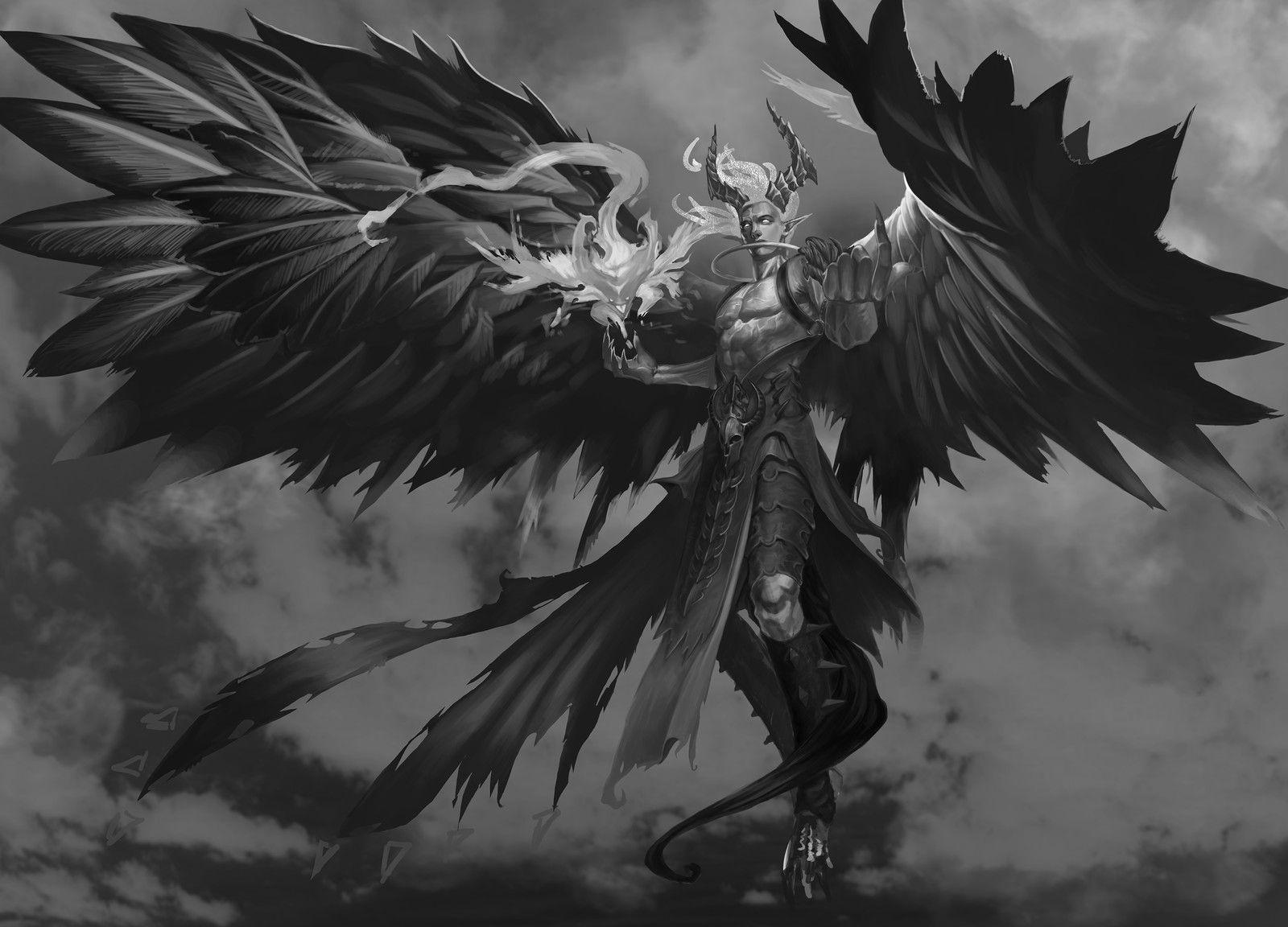 Arrogant demon, Peach Luo on ArtStation at https://www.artstation.com/artwork/0zBoK