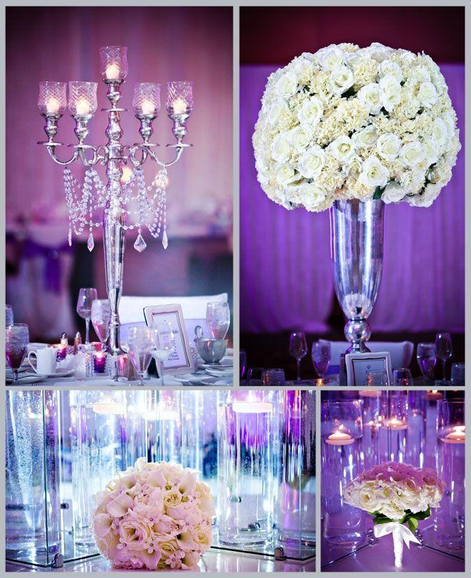 Elegant White Wedding Theme: Purple And White- So Pretty And Elegant!