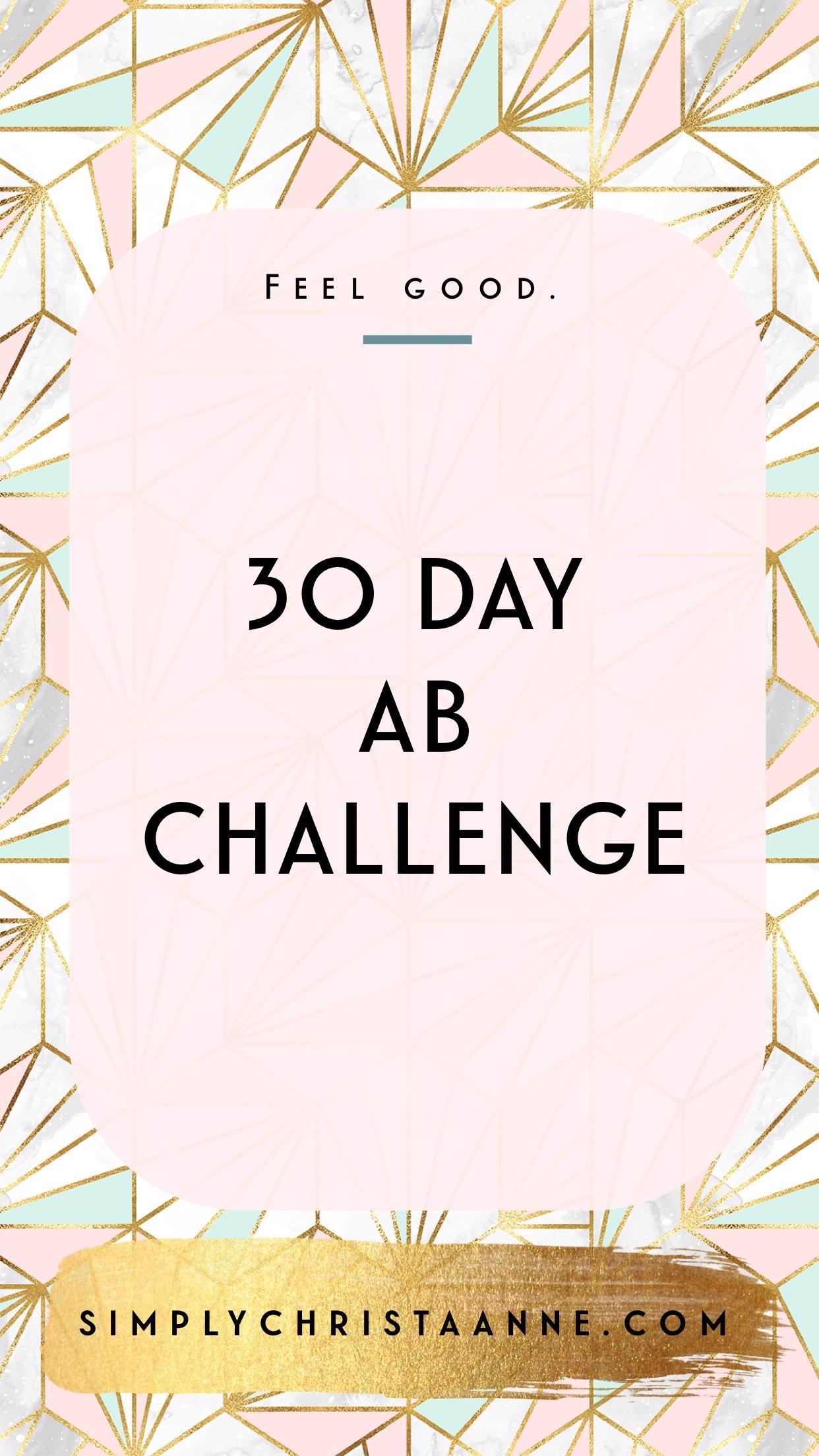 Trainieren Sie Ihre Bauchmuskeln und verbessern Sie Ihr Engagement mit dieser 30-Tage-Herausforderun...