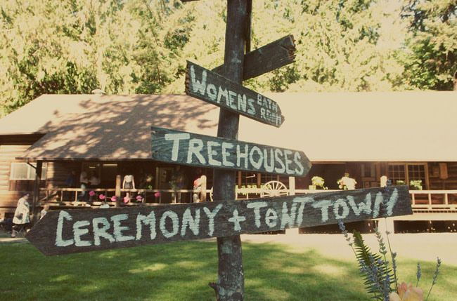 camp-wedding-wooden-signs