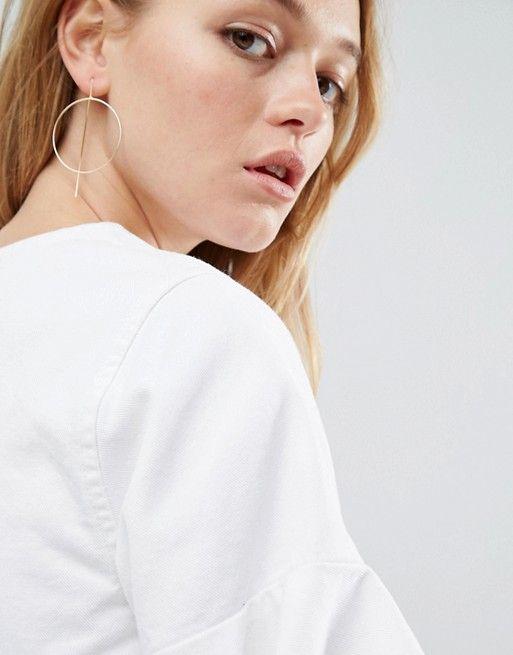 4ba2f893a DESIGN fine open hoop through earrings | pour moi | Earrings ...