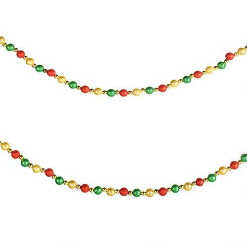 12\u0027 Glittered Beads and Balls Garland, Set of 2 Christmas Tree