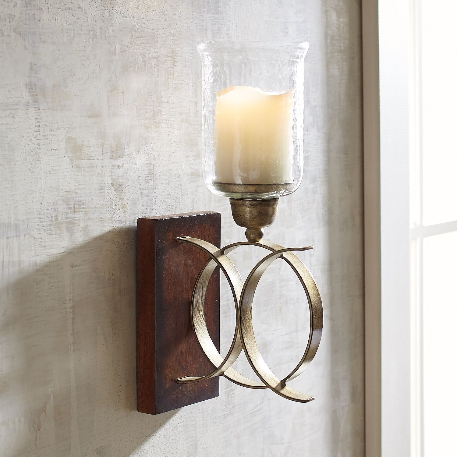 Intertwining Circle Wall Sconce Small Sconces Candle Holder Wall Sconce Wall Candles