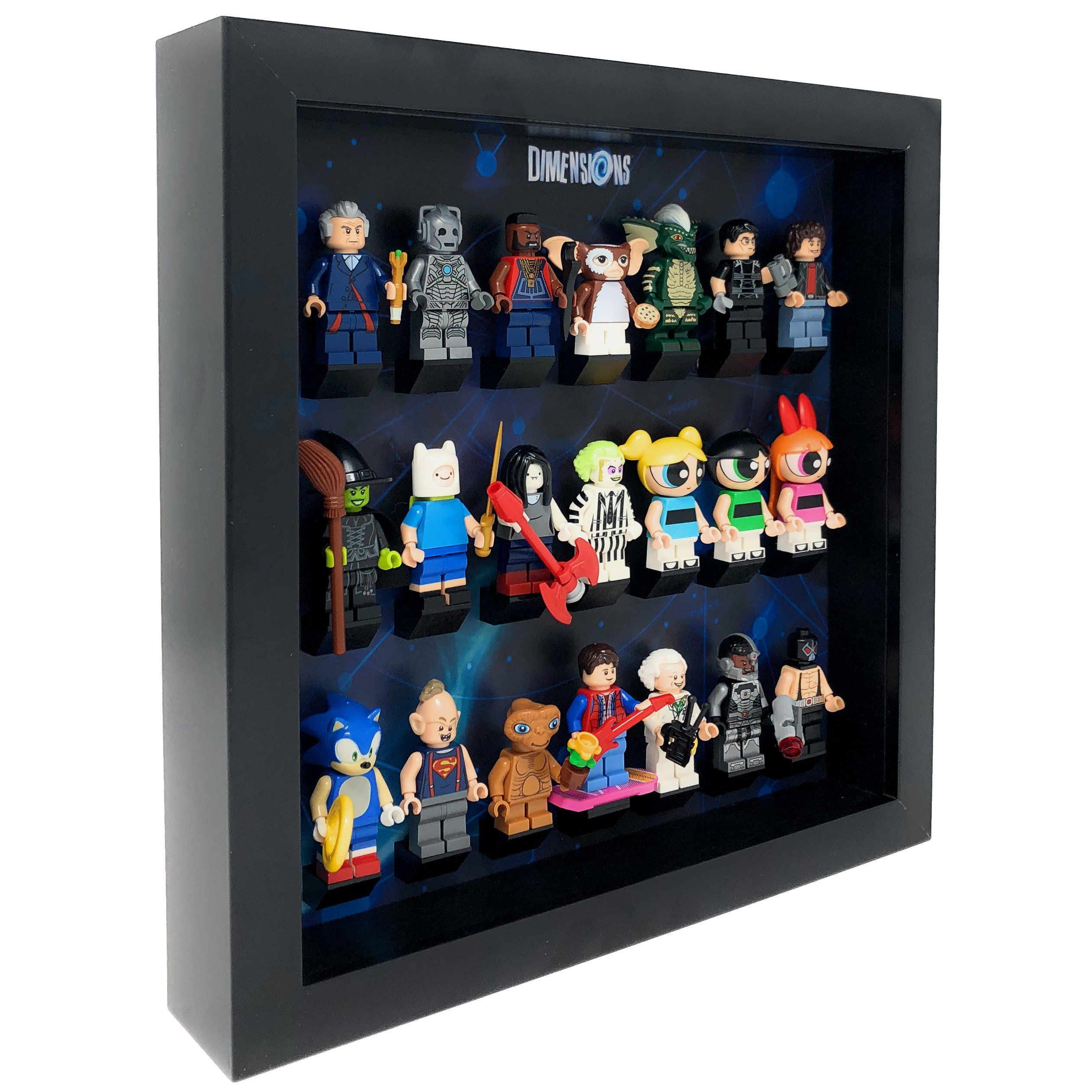 Lego Minifigures Display Case Picture Frame for Back To The Future minifigs