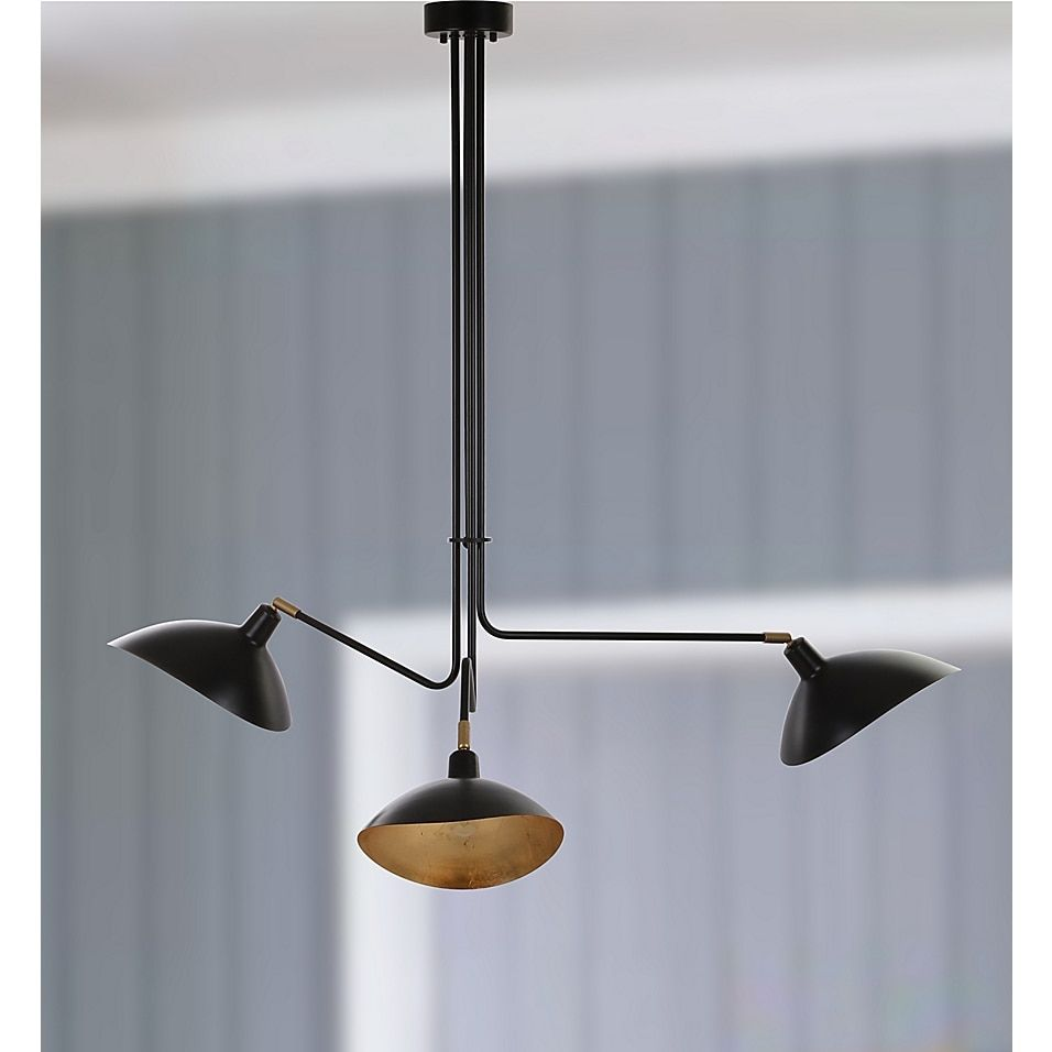 Safavieh Lewis 3 Light Pendant In Black Bed Bath Beyond Metal Pendant Lamps Black Pendant Lamp Contemporary Pendant Lights