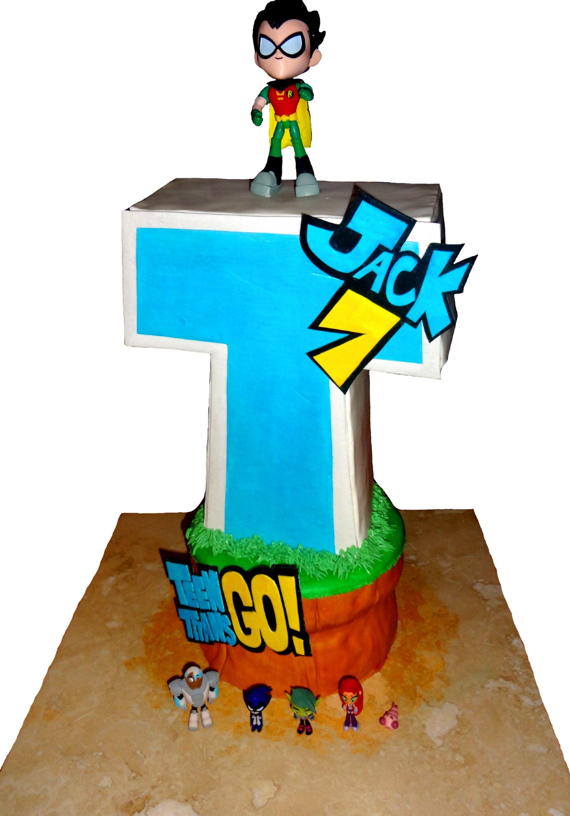 Teen Titans Go Tower Birthday Cake  Trishalicious Cakes -6994