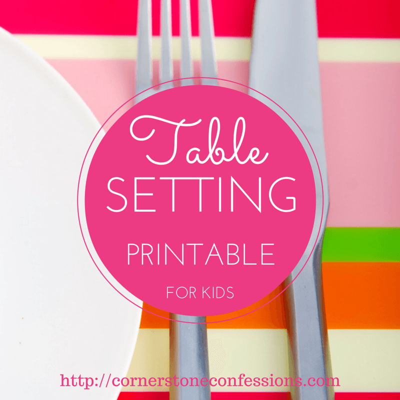 Free Table Setting Placemat Printables & Free Table Setting Placemat Printables | Placemat Learning and ...