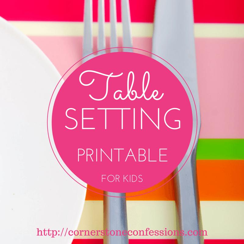 Wonderful Table Setting Worksheet Pdf Gallery - Best Image Engine ...