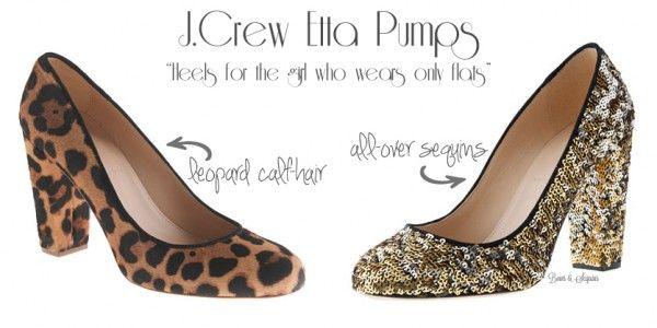 j crew leopard heels