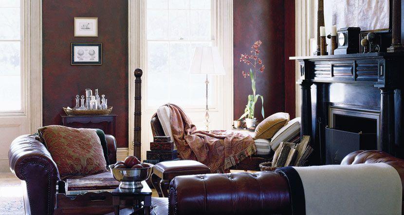 Antiqued Leather - Techniques - Paint - Ralph Lauren Home - art deco mobel ralph lauren home