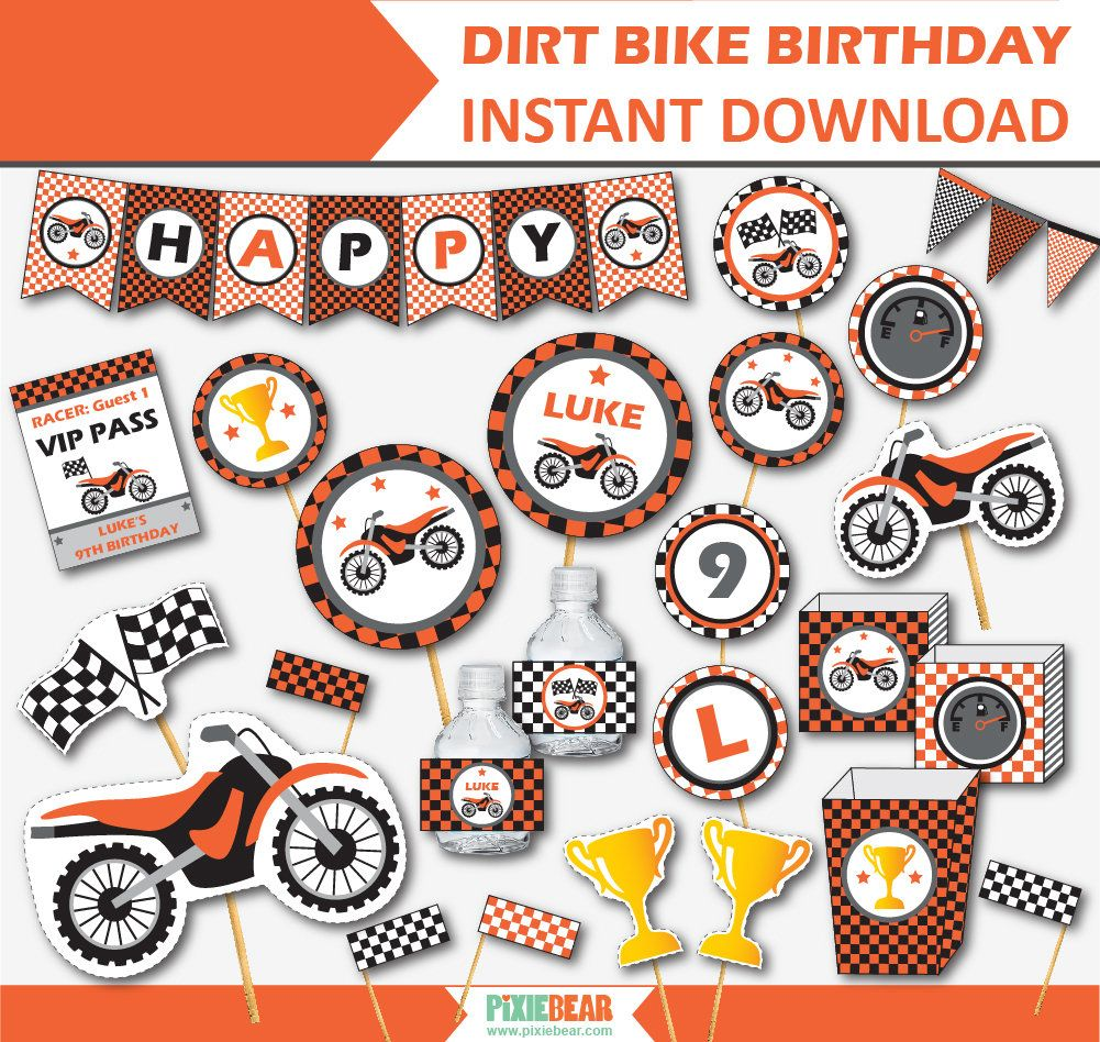 Motorcycle Party - Dirt Bike Birthday - Motocross Birthday ...