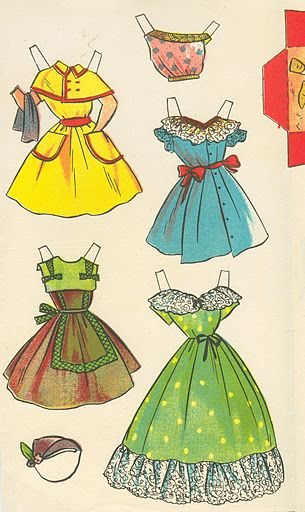 Quiero Ver mi Cuarto de Bano? Cuardero de Recortables No.2 [Wanna See My Bathroom?  Paper Doll from Spain], 1962: Page 5 (of 5)