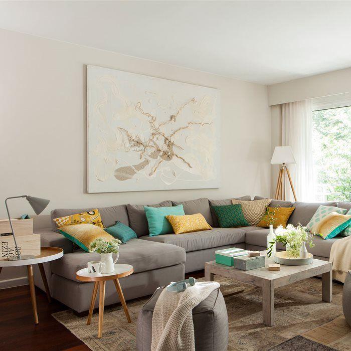 Ideas cojines para sofa turquesa casa dise o - Spa tres casas ...