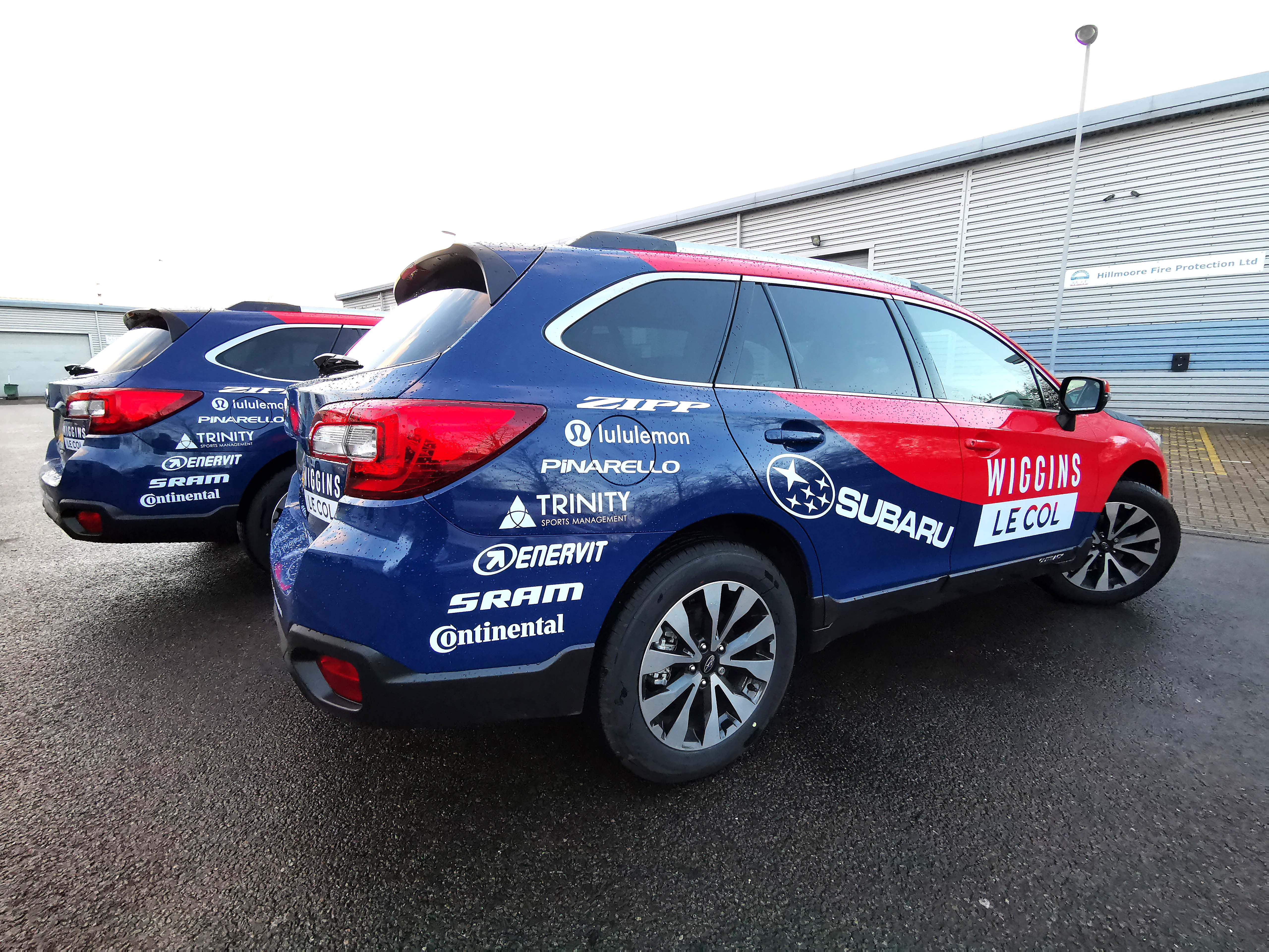 We Just Completed A Full Car Wraps On X 4 Subaru Outback For The Wiggins Lecol Cycling Team Get A Bespoke Vehicle Wrap Quote Car Wrap Car Car Vinyl Graphics