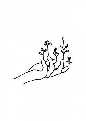 Bloom hand by Nin Hol | metal posters - Displate | Displate thumbnail