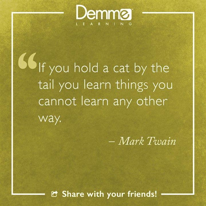 Mark Twain #LearningQuote