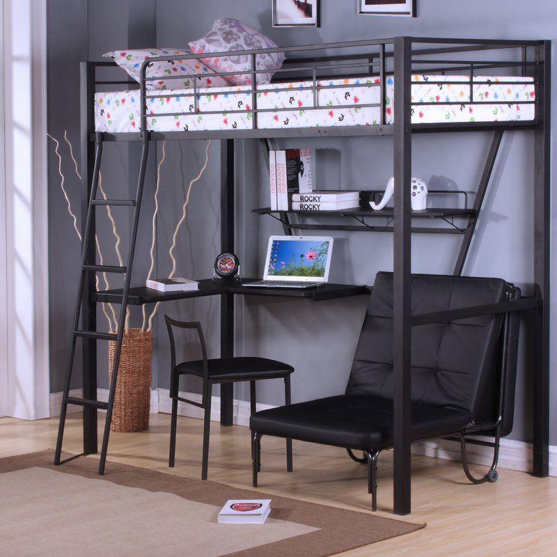 Create A Comfortable And Functional Bedroom For Your Teenager With This Senon Loft Bed With Desk This Piece Fe