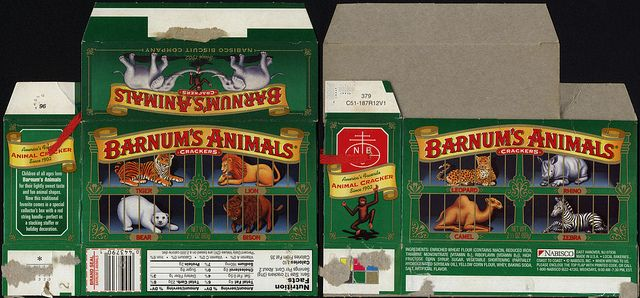 Nabisco Barnum S Animals Crackers Nostalgia Holiday Green Edition Cookie Box 1996 Animal Crackers Miniature Printables Dollhouse Miniatures