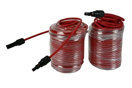 Temco 1 Pair 100 Ft Mc4 Solar Panel Extension Red Connector Male Female 10 Awg Gauge Pv Cable Wire Amazon Best Cool Things To Buy Solar Panels 10 Things
