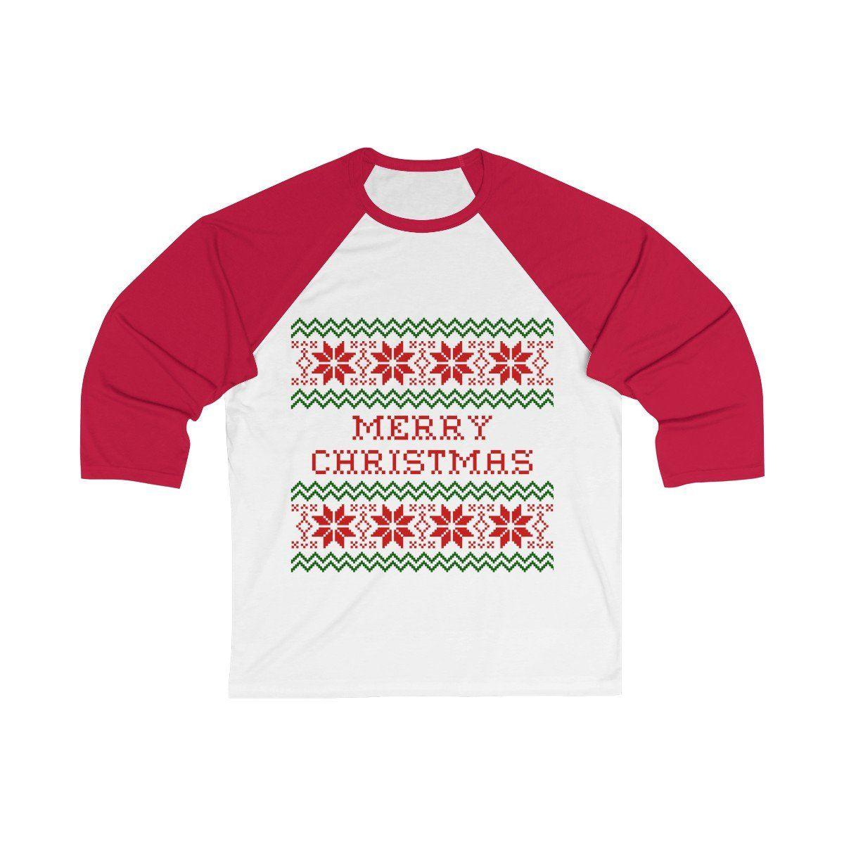 0d5a1ca1 Nice Tops, Christen, Gauges, Merry Christmas, Unisex, Baseball, Merry Little