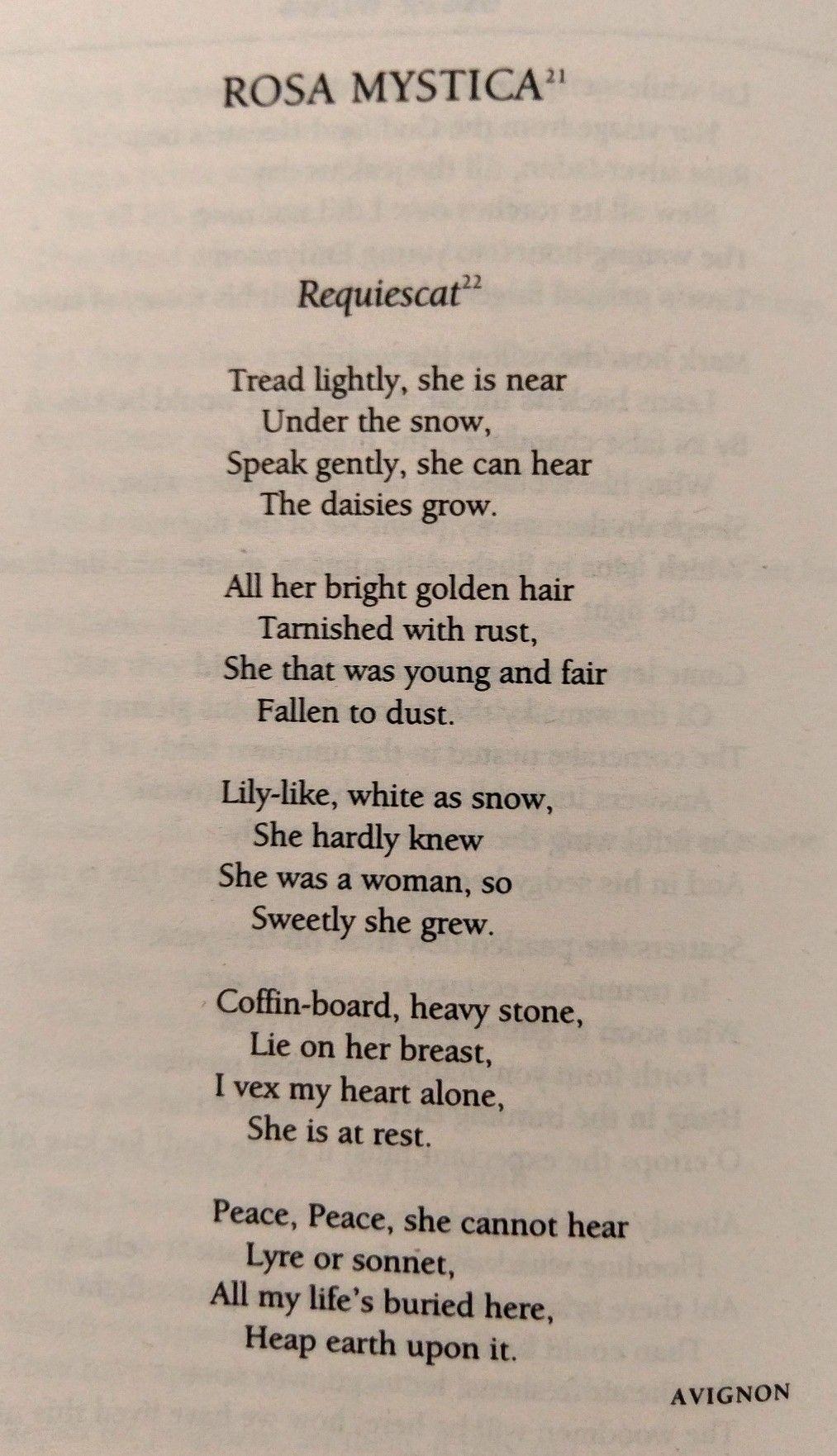 Oscar Wilde Rosa Mystica Requiescat Poems Oscar Wilde Words