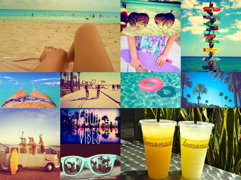 Made this summertumblrcali vibe collage for by wallpaper on my