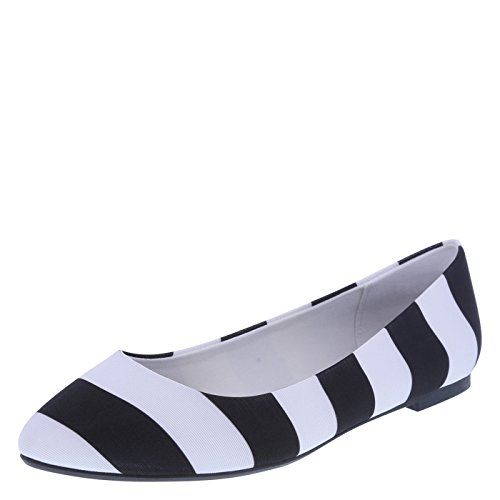 26fa36078fc2f Christian Siriano for Payless Womens Black White Womens Gigi Point ...