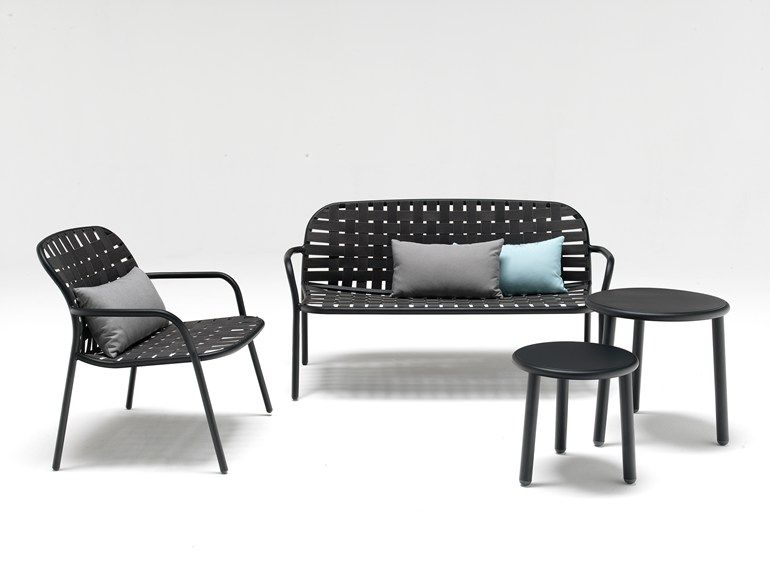 Aluminium easy chair with armrests YARD | Easy chair - EMU GROUP