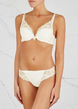 25a1368e1f6 Wish ivory satin thong | Bra and panty sets | Lingerie, Luxury ...