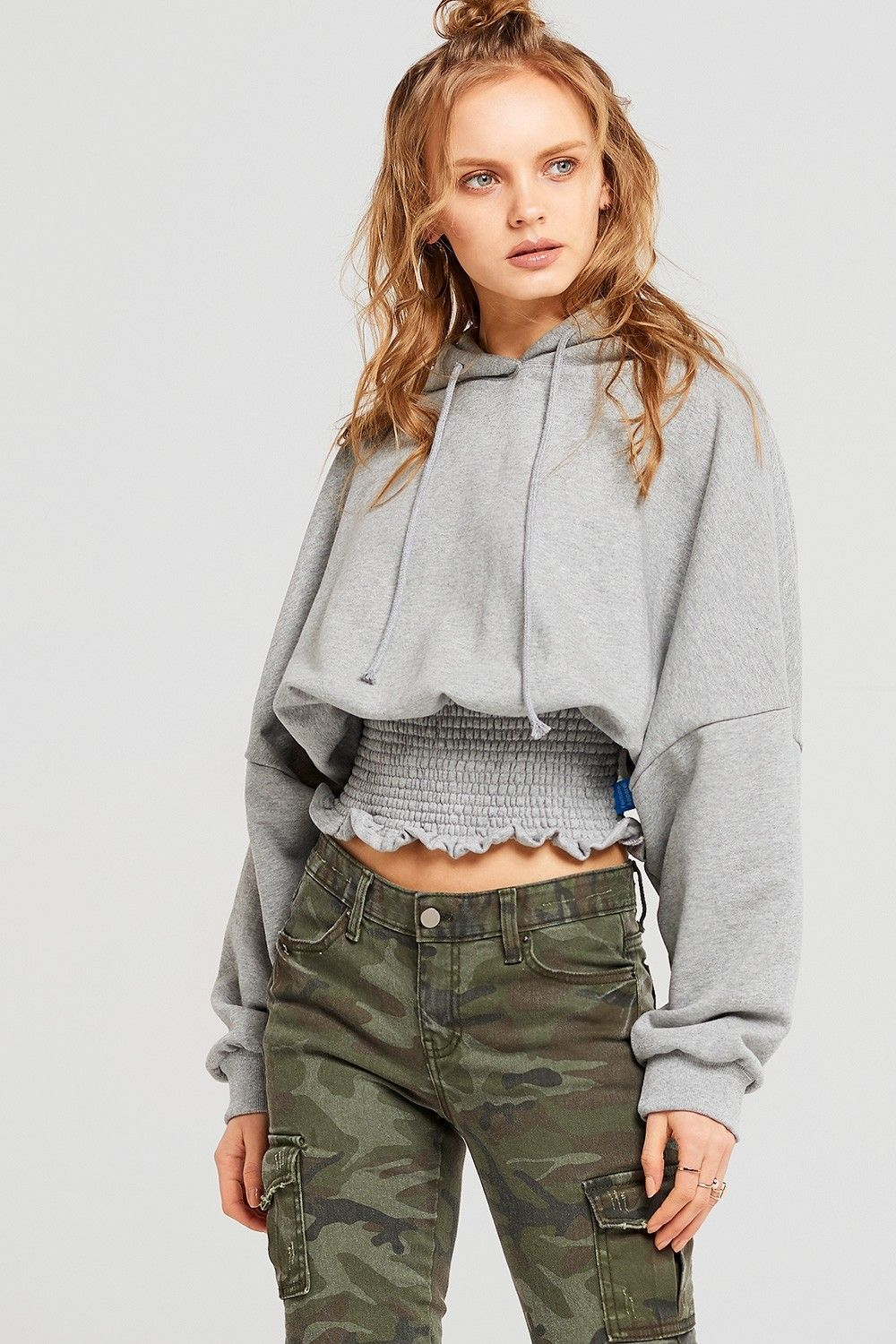 Izzy shirred relaxed fit hoodie discover the latest fashion trends