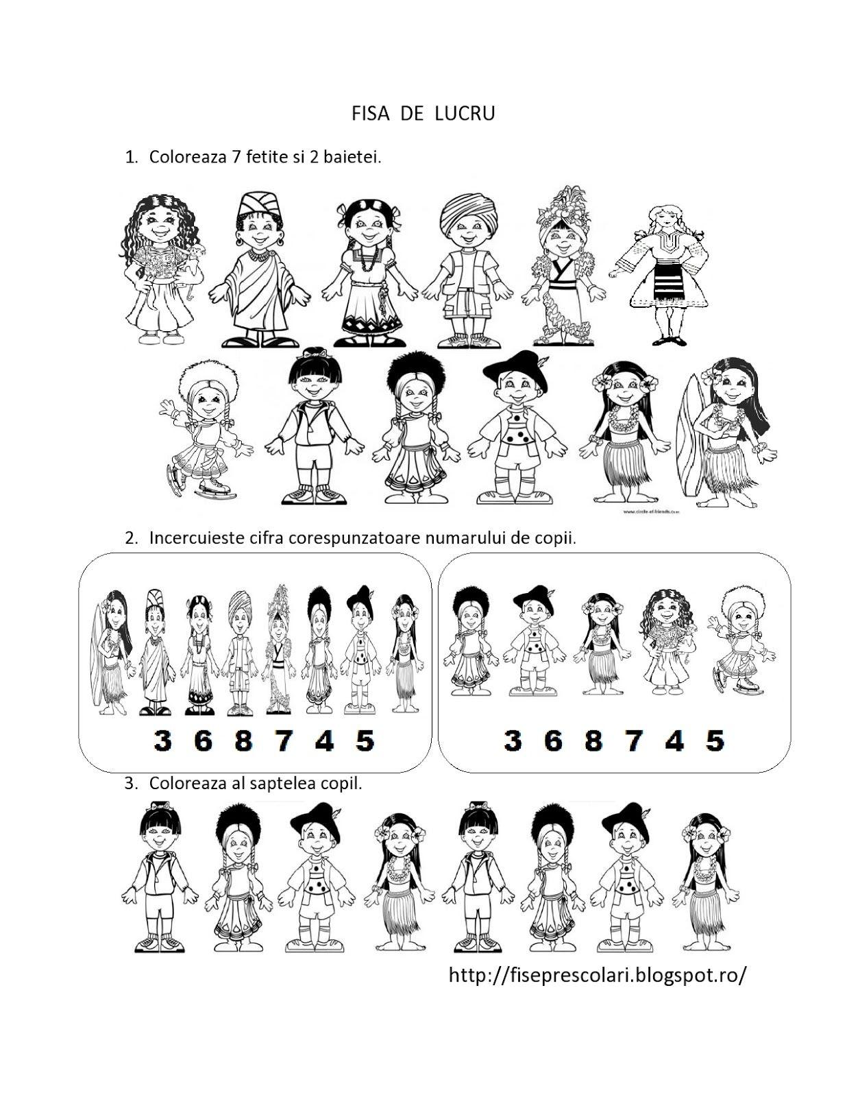 Copii Din Alte Tari De Colorat
