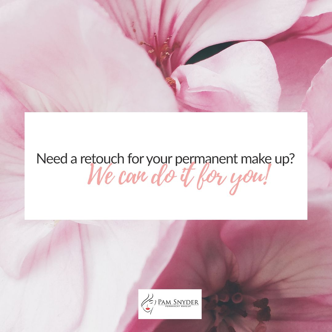 Permanent make up retouch