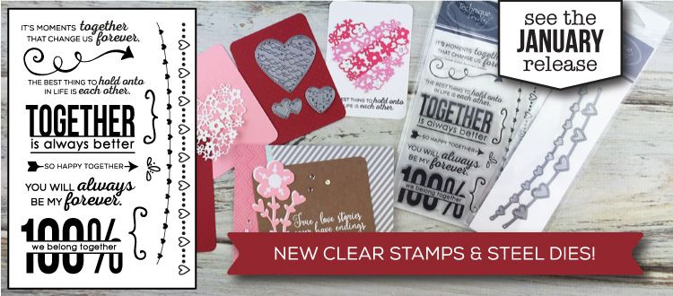 We think you are going to love  January's new clear stamps and steel dies from TechniqueTuesday.com.