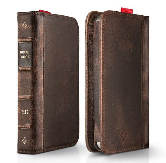 Retro book cowhide Personalized iphone4 Case iphone5 Cover iphone4s Case Cover iphone 5 case $25