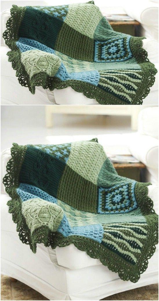 25 Quick And Easy Crochet Blanket Patterns For Beginners | Cobija ...