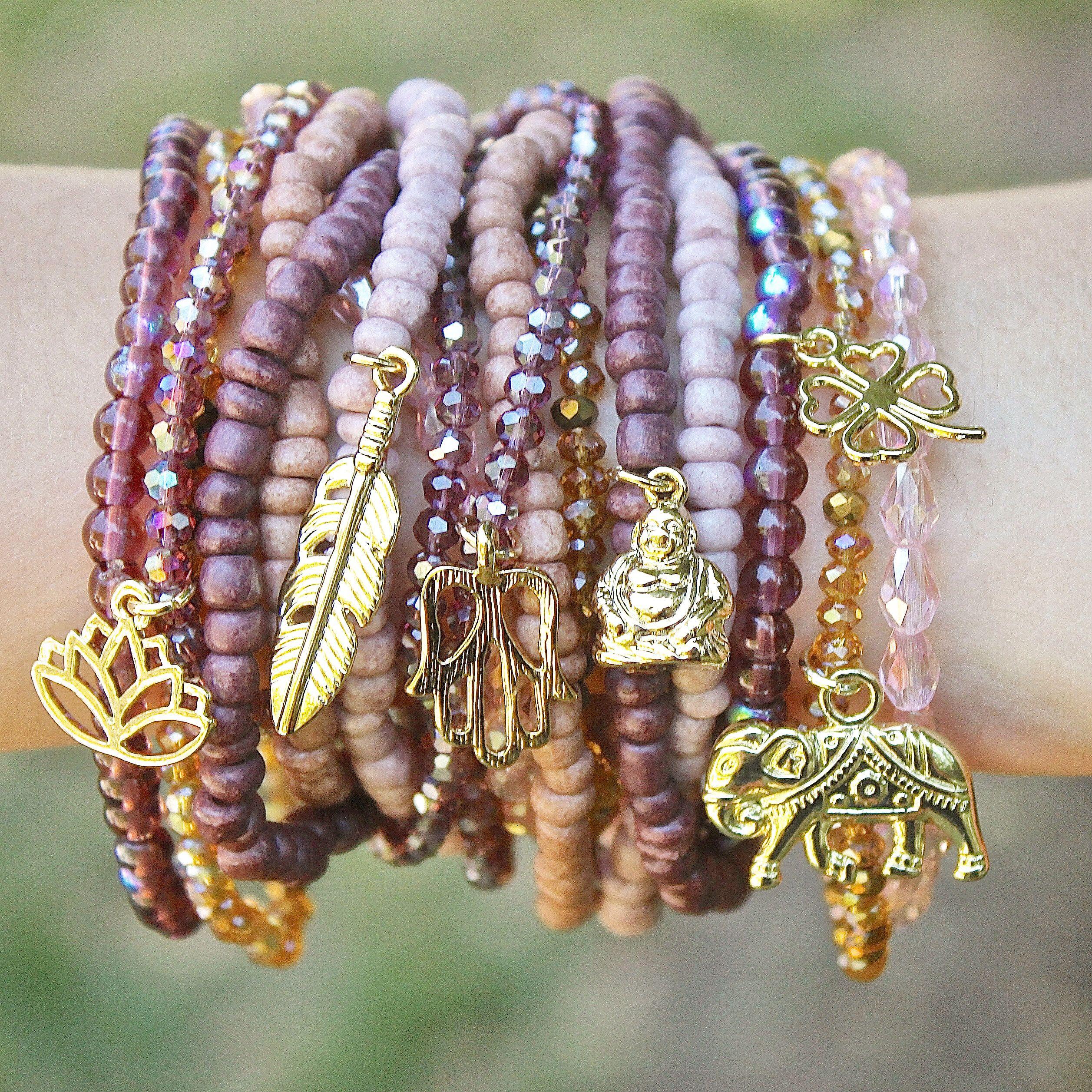 bohemian boho charm bracelets style pinterest armb nder schmuck armband und perlenkette. Black Bedroom Furniture Sets. Home Design Ideas