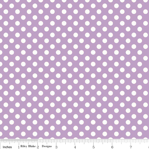 Small Dots in Lavender - Riley Blake House Designer - Cotton Dots