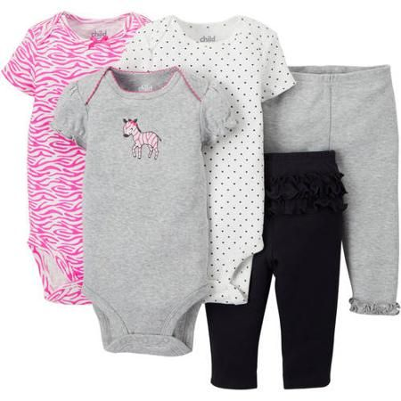 53a91d0034 Child Of Mine Made By Carter s Newborn Baby Girl Bodysuit and Pant ...