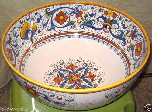 Jumbo 15 Grazia Deruta Pottery Hand Painted Majolica Ricco Pasta Bowl Ebay Deruta Pottery Deruta Majolica