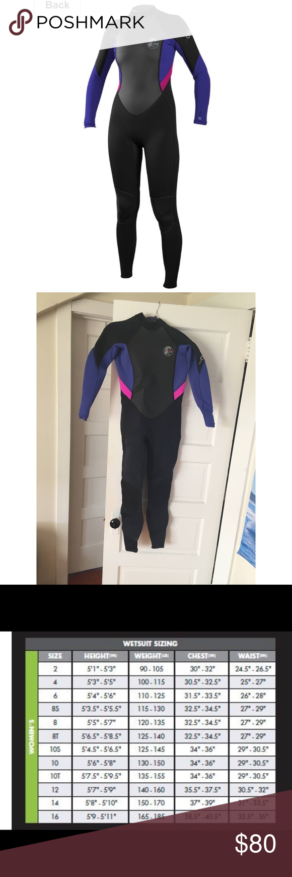 O Neill Women Wetsuit Size 10 O Neill Full Wetsuit Size 10 3 2mm Used In The Colder Months In Southern California And Held Up Great My Posh Picks In 2019