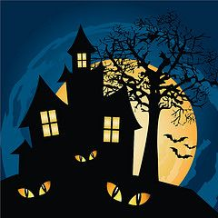 Image result for haunted house cartoon