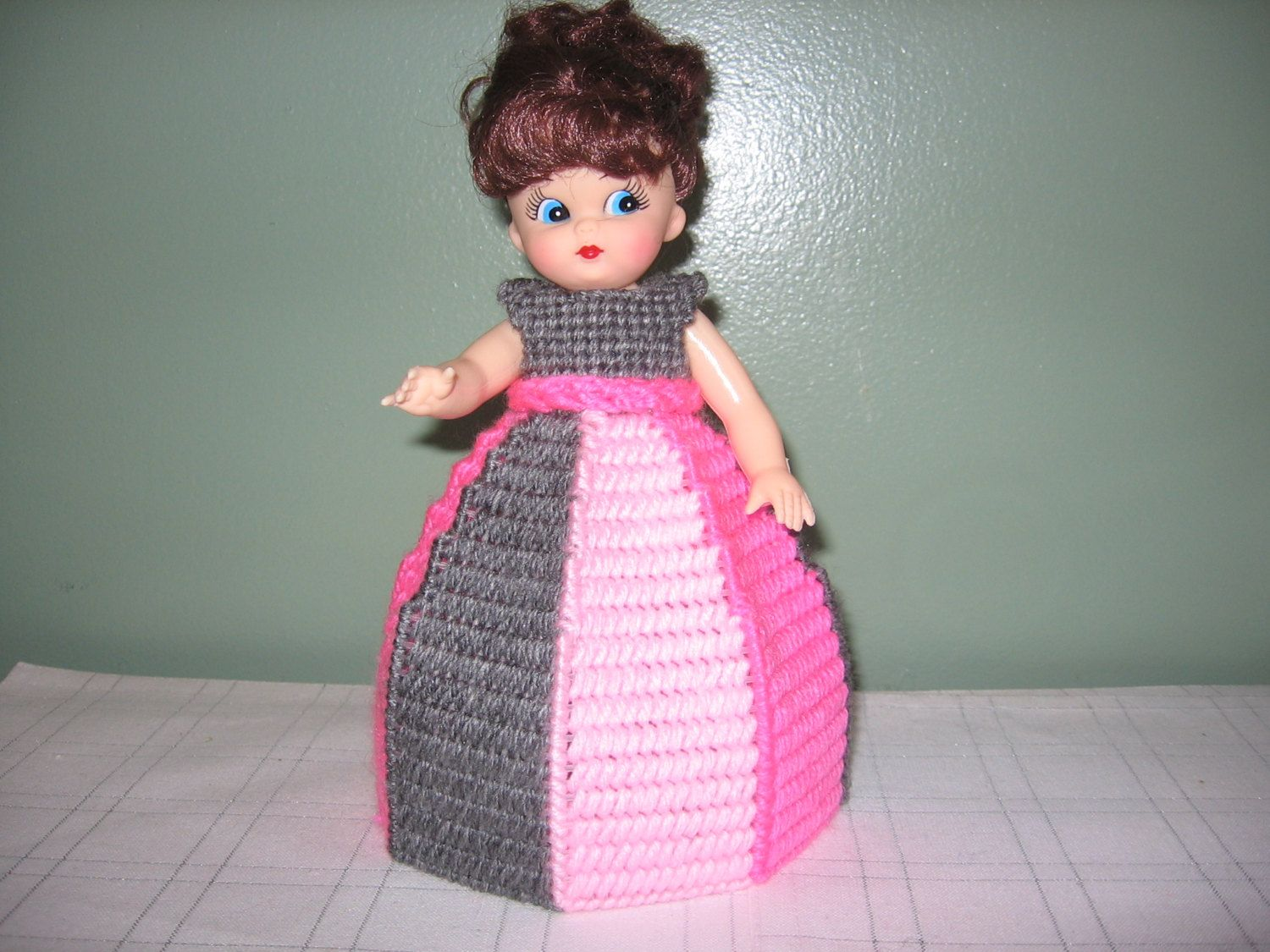 Gray/Hot Pink/Light Pink Collectible Doll - use for decoration or Air Freshner!! by CreationsbyAMJ on Etsy #airfreshnerdolls