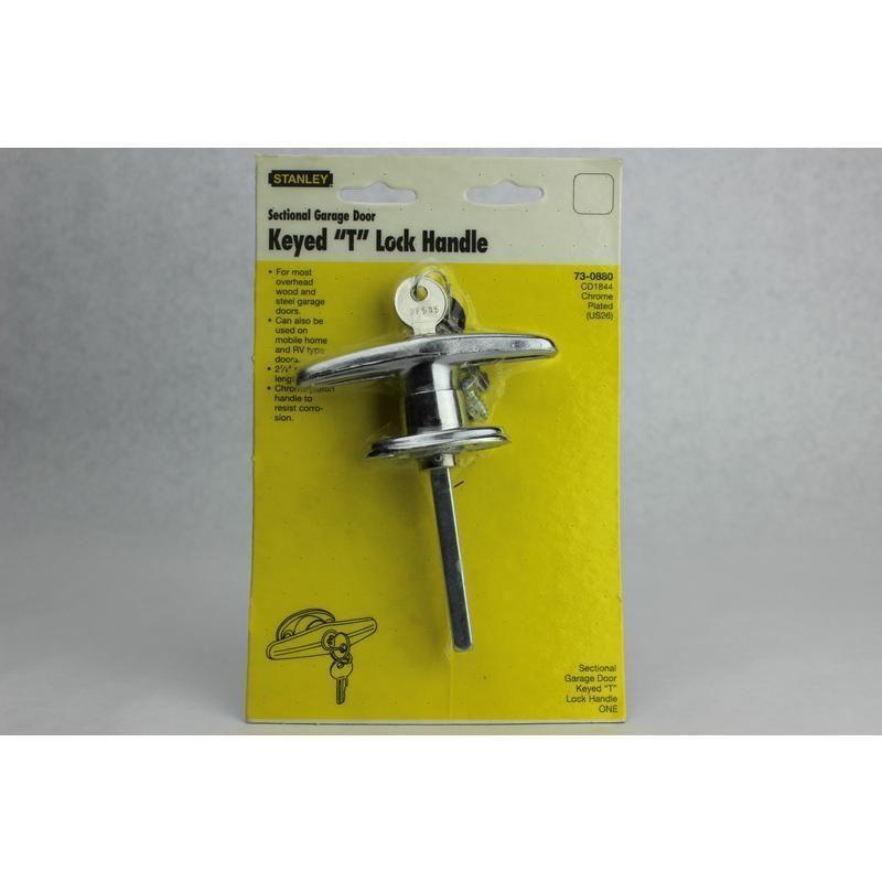 Garage Door Keyed T Lock Handle Stanley Garage Door Hardware 73