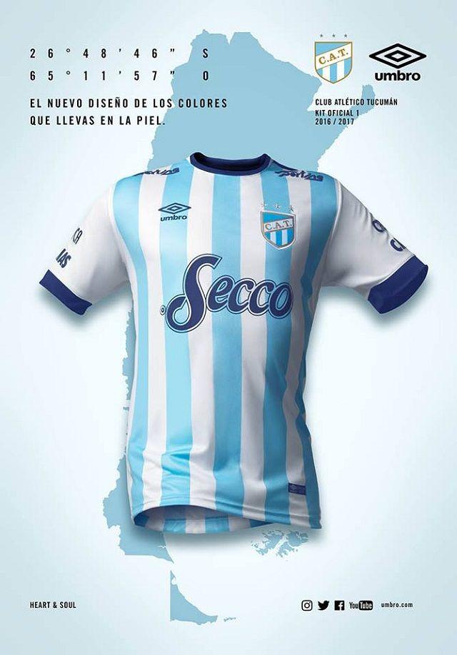 Camisas do Club Atletico Tucumán 2016-2017 Umbro  09370abf1c4