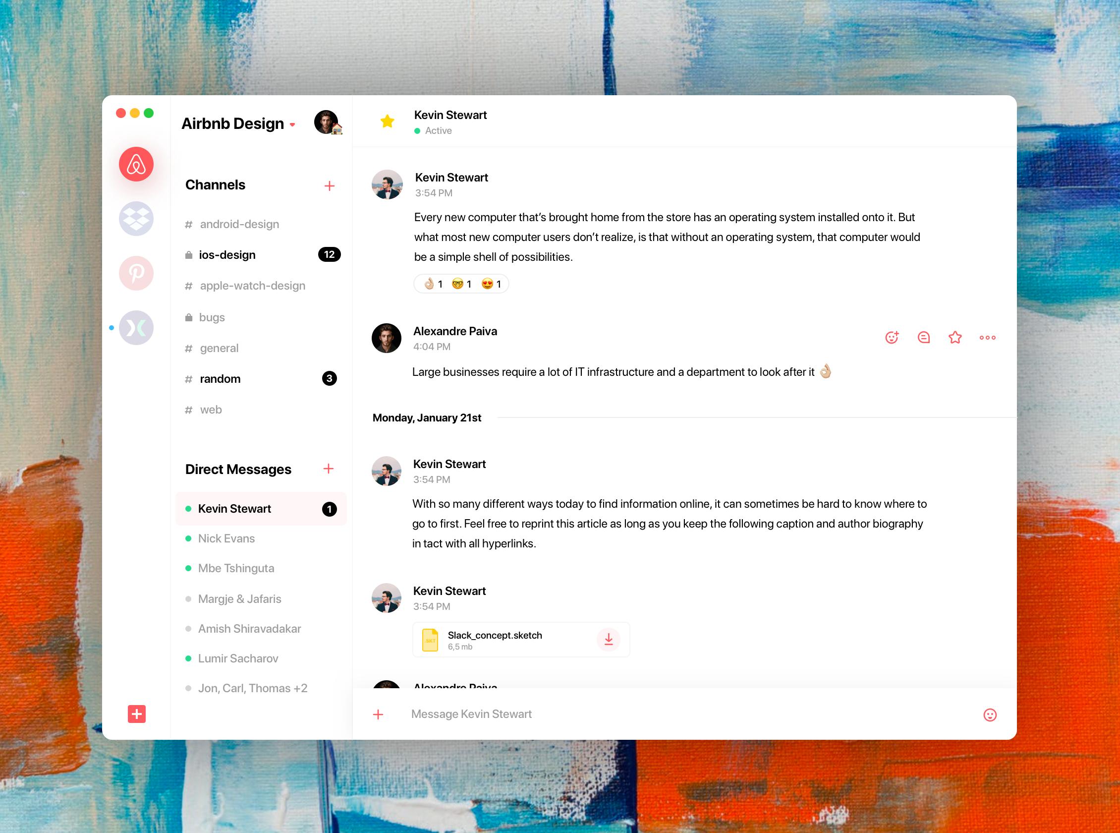 Slack app (avec images) Générale