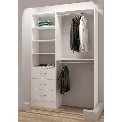 "Rebrilliant Belle 56.25"" W Closet System | Wayfair.ca"