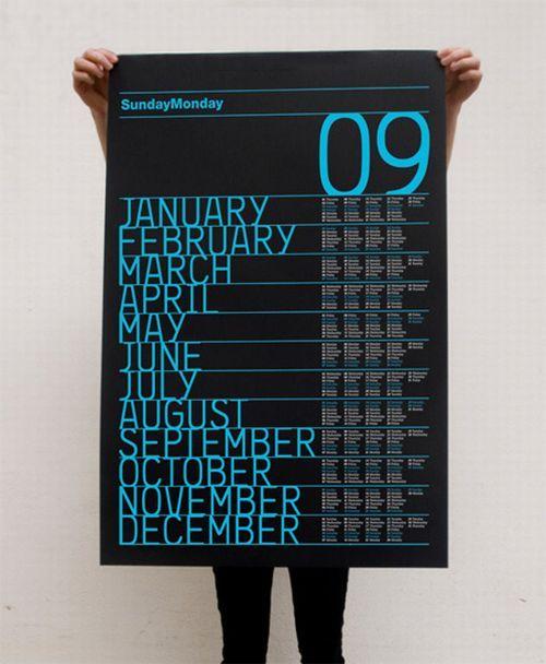 Unusual And Creative Calendar Designs Calendar Design Creative