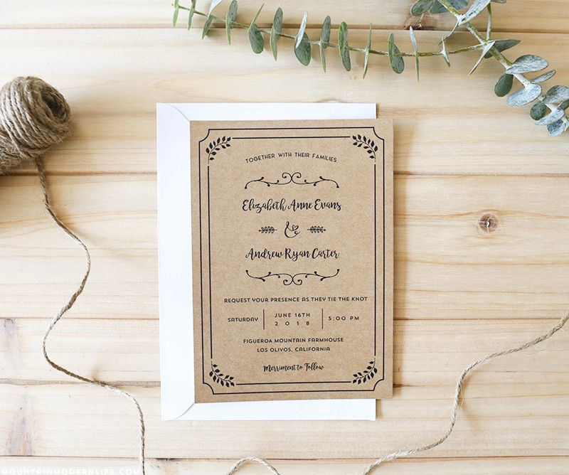 FREE Printable Wedding Invitation Template tyxgb76aj - free invitation template downloads